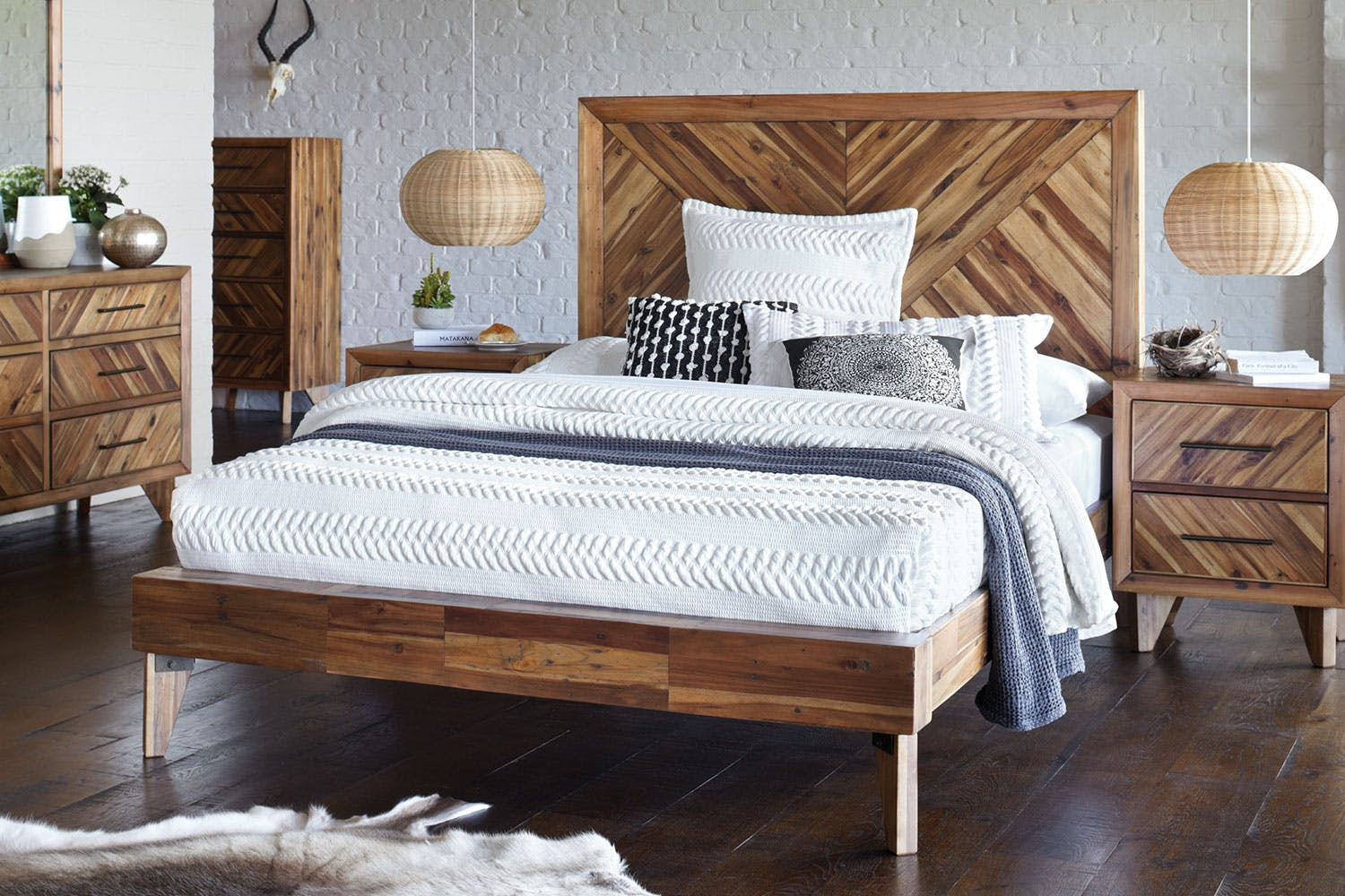 Parquet queen bed frame by synargy harvey norman new zealand - Harvey norman bedroom sets ...