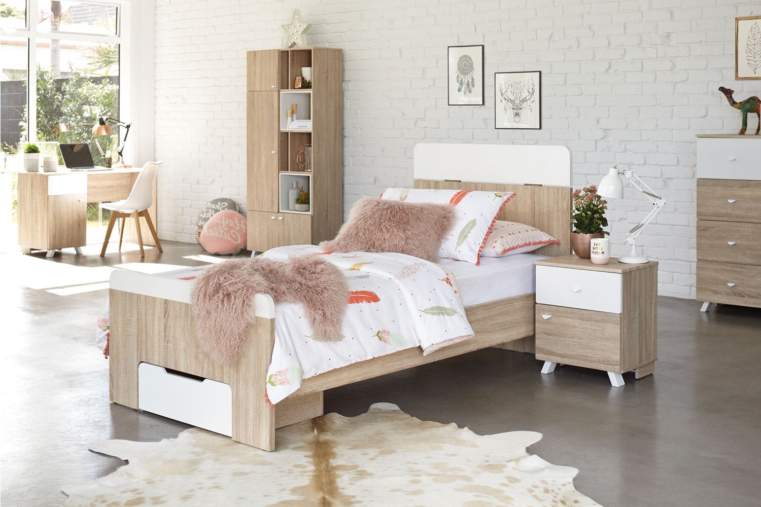 maali single bed frame by stoke furniture - Single Bed Frame