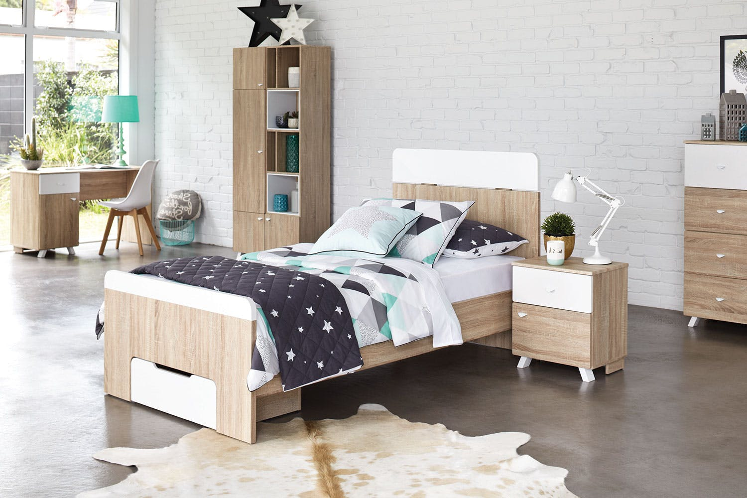 Wishlist. Maali King Single Bed Frame by Stoke Furniture   Harvey Norman New