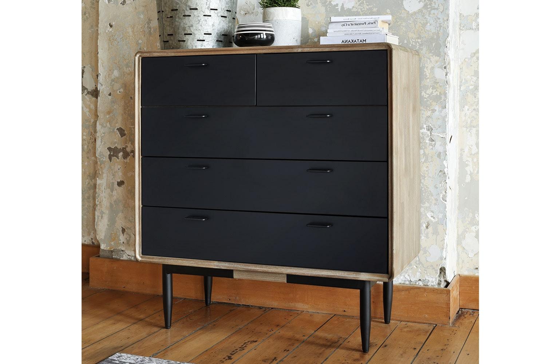 Alba 5 Drawer Tallboy By John Young Furniture