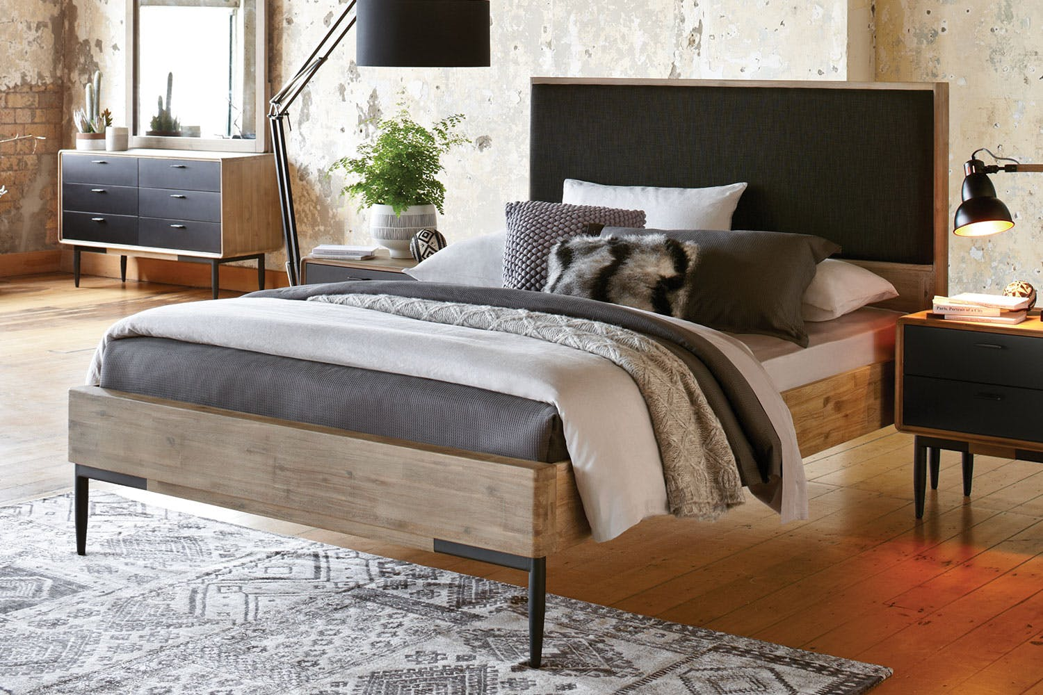 Alba Queen Bed Frame by John Young Furniture   Harvey ...