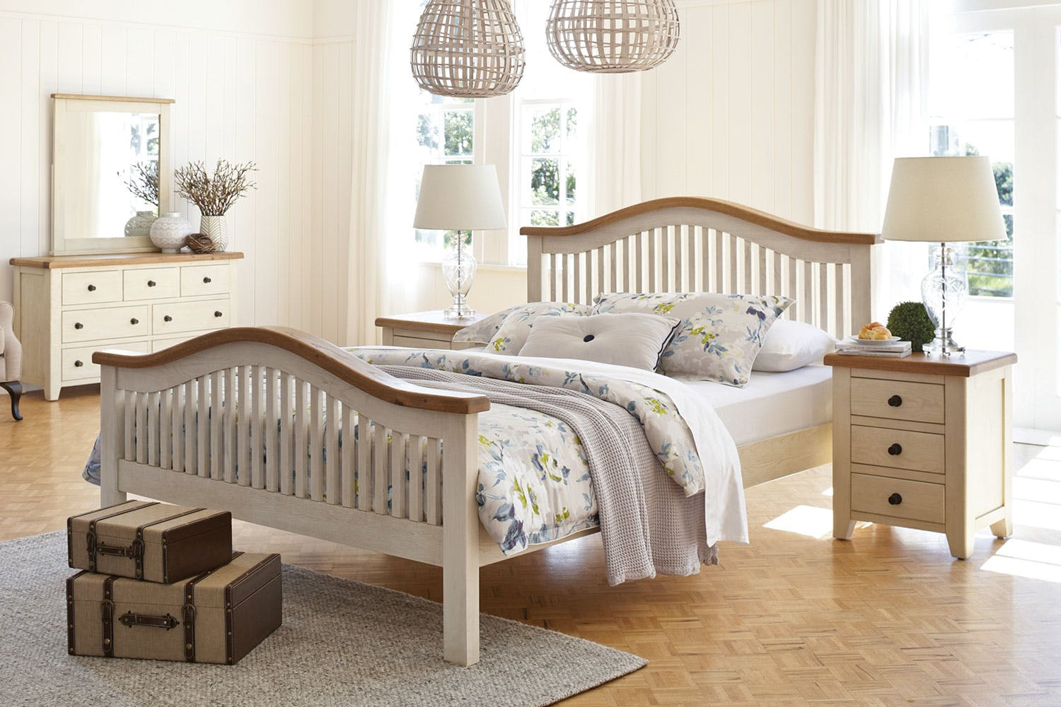 Mansfield queen slat bed frame by debonaire furniture harvey norman new zealand