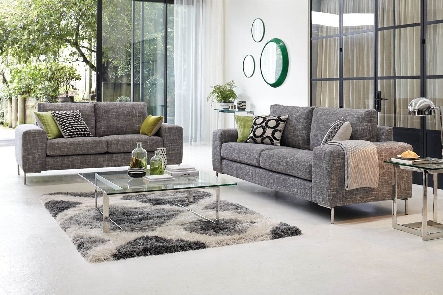Andros 2 Piece Fabric Lounge Suite By Evan John Philp