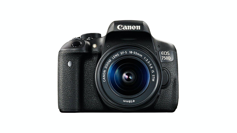 canon eos 750d dslr with ef s 18 55mm lens kit harvey. Black Bedroom Furniture Sets. Home Design Ideas