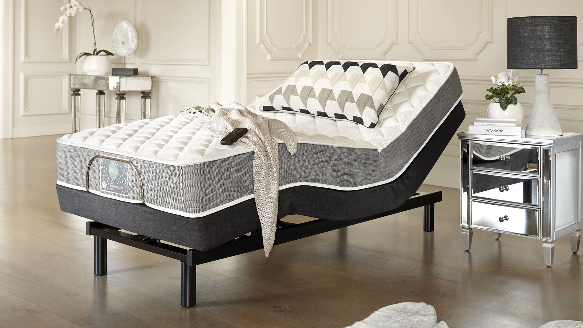 Adjustable Single Bed Base : Sleepmaker dreamweaver firm king single mattress with