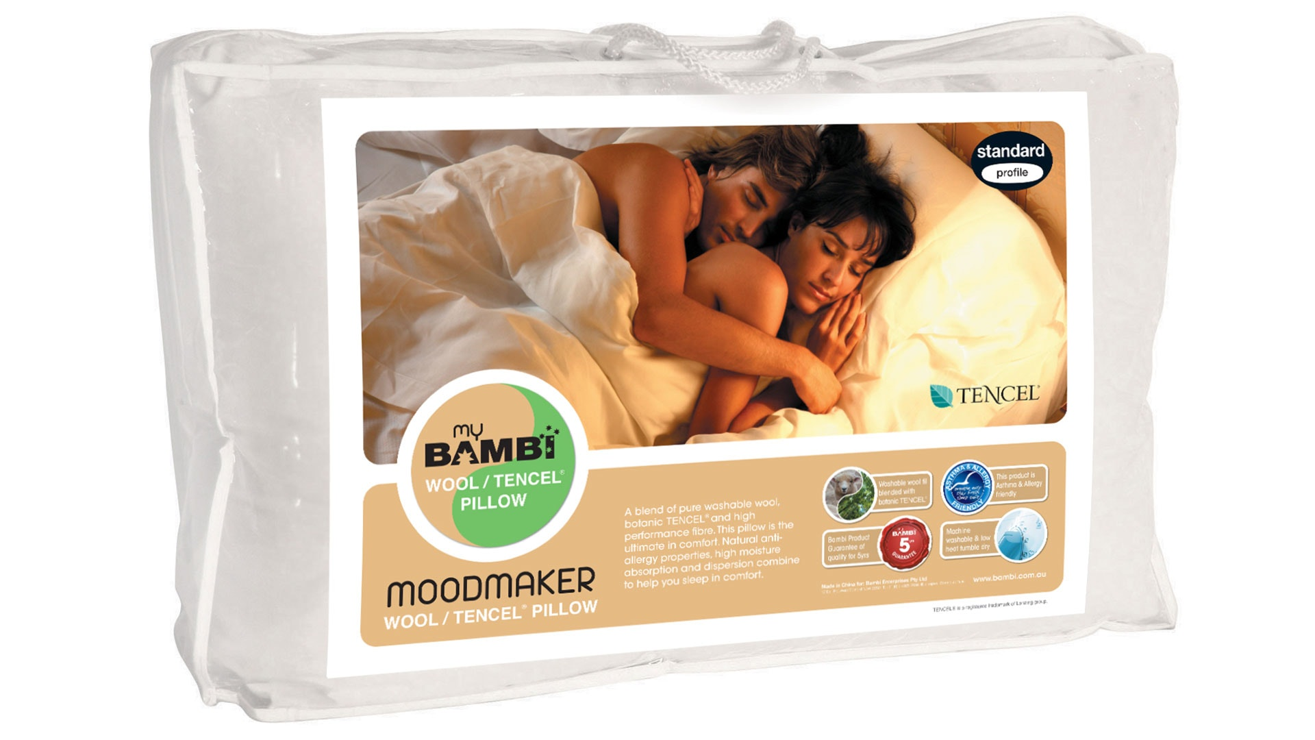 Moodmaker Wool Tencel Blend Pillow by Bambi