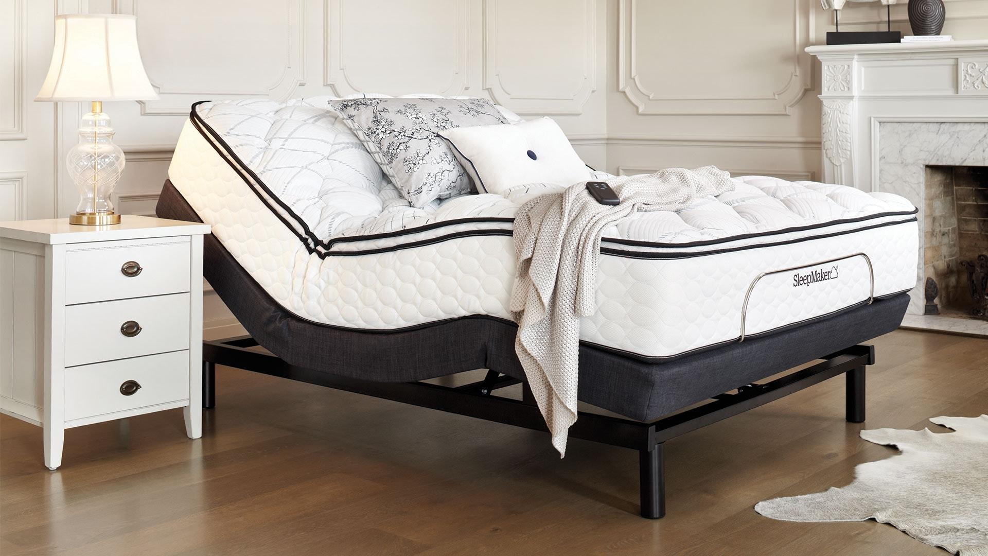 Sleepmaker Posture Align Medium King Single Mattress with Lifestyle Adjustable Base by Tempur