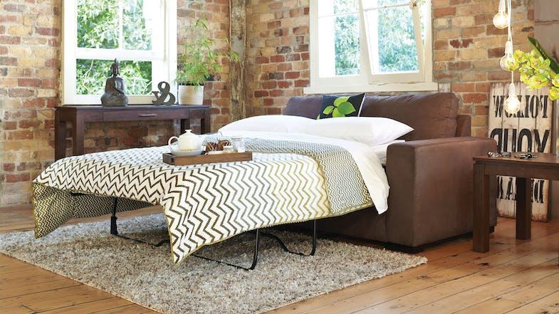 Jetson fabric sofa bed harvey norman new zealand for Sofa bed new zealand