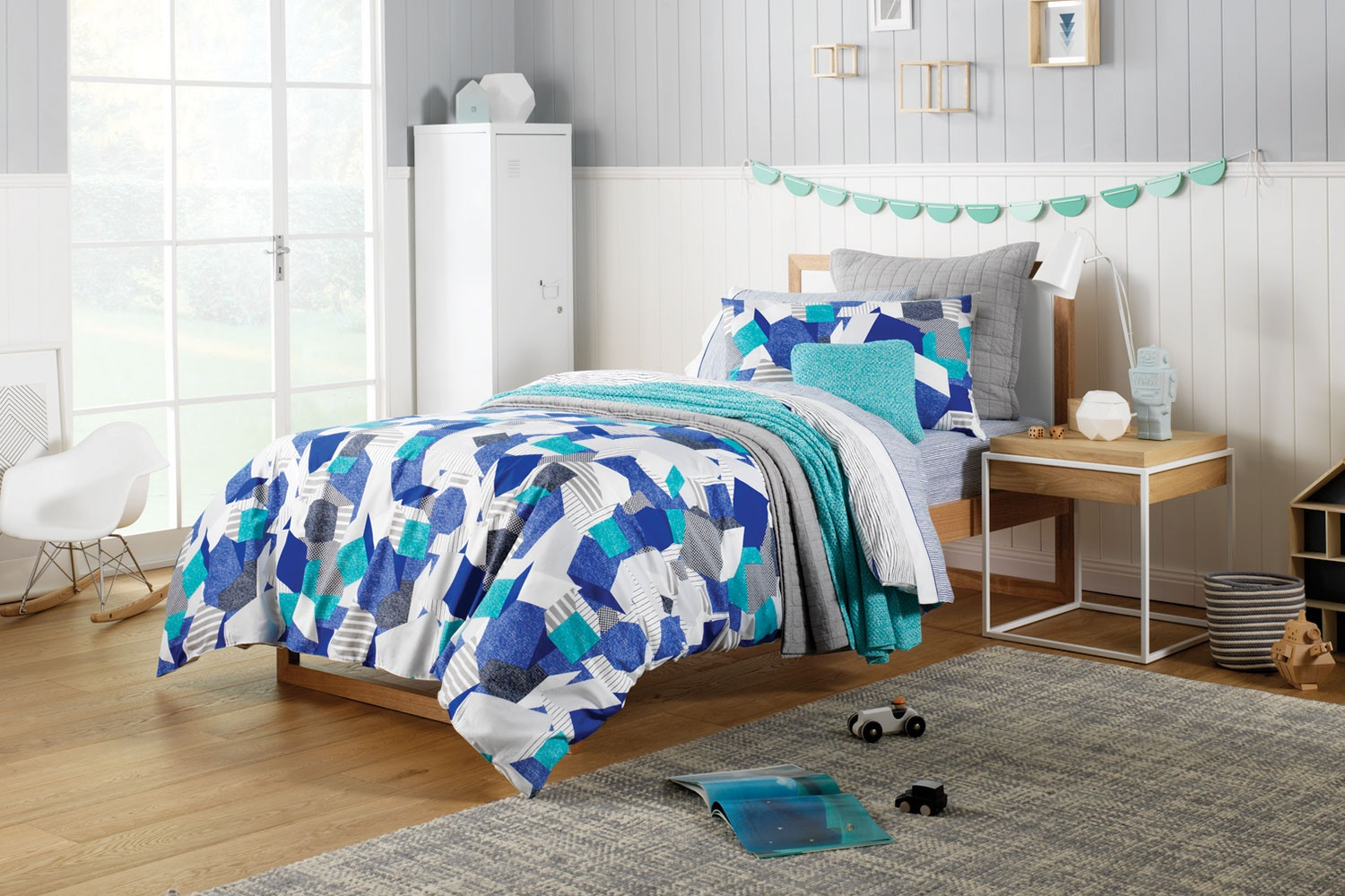Altair Electric Blue Duvet Cover Set by Sheridan Kids