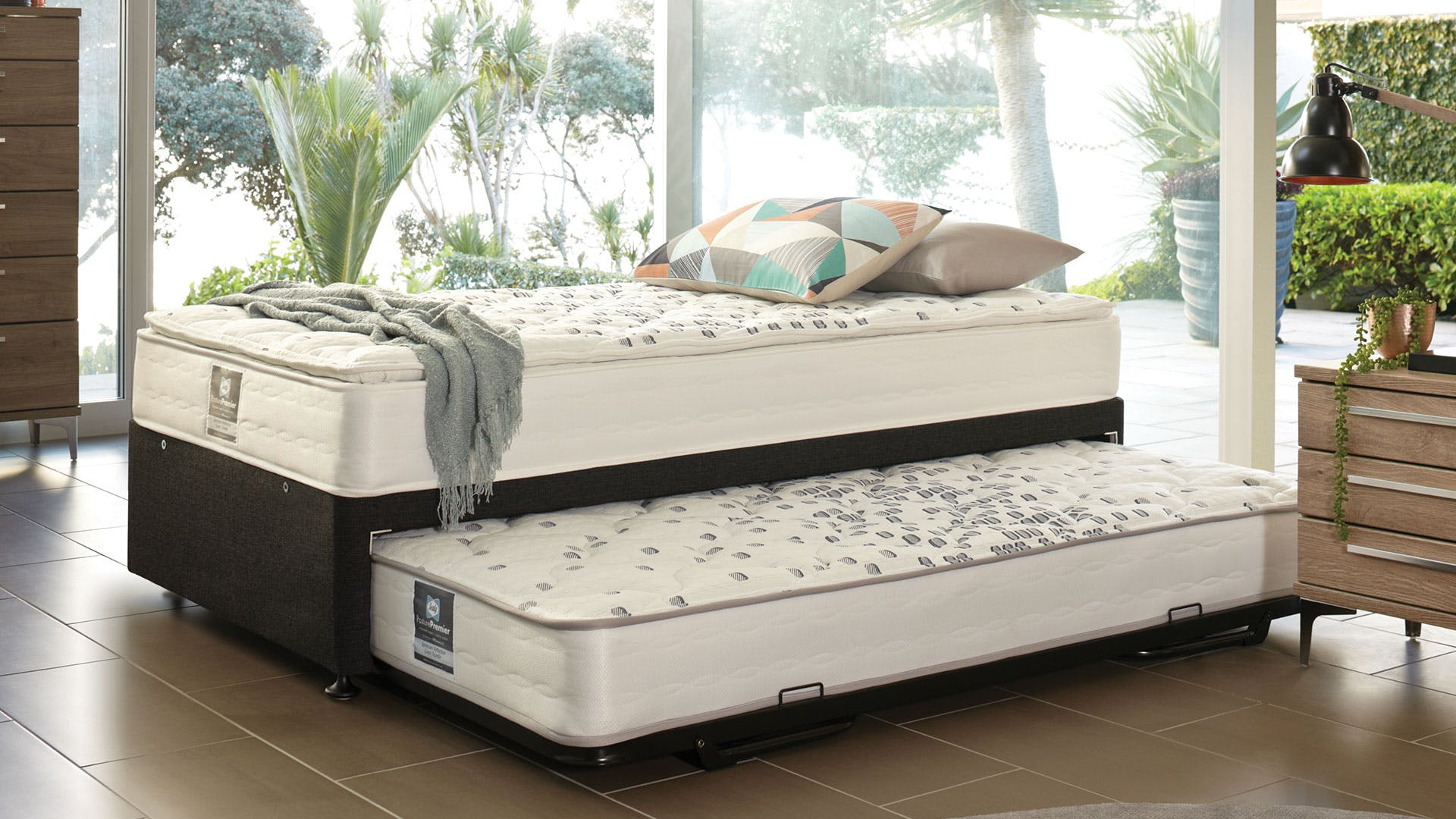 trundle bed l beds single kids with stompa classic by