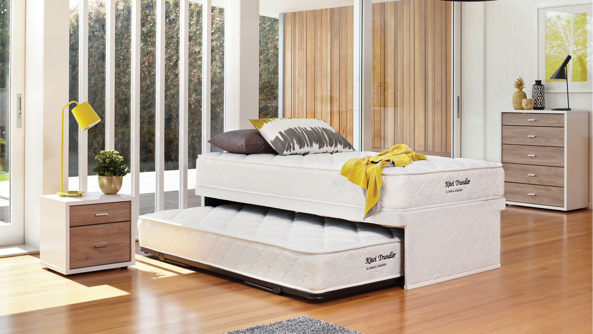Kiwi King Single Trundle Bed by Englander | Harvey Norman New Zealand