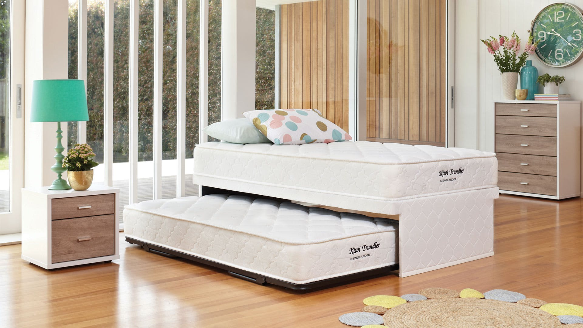 Kiwi King Single Trundle Bed By Englander Harvey Norman