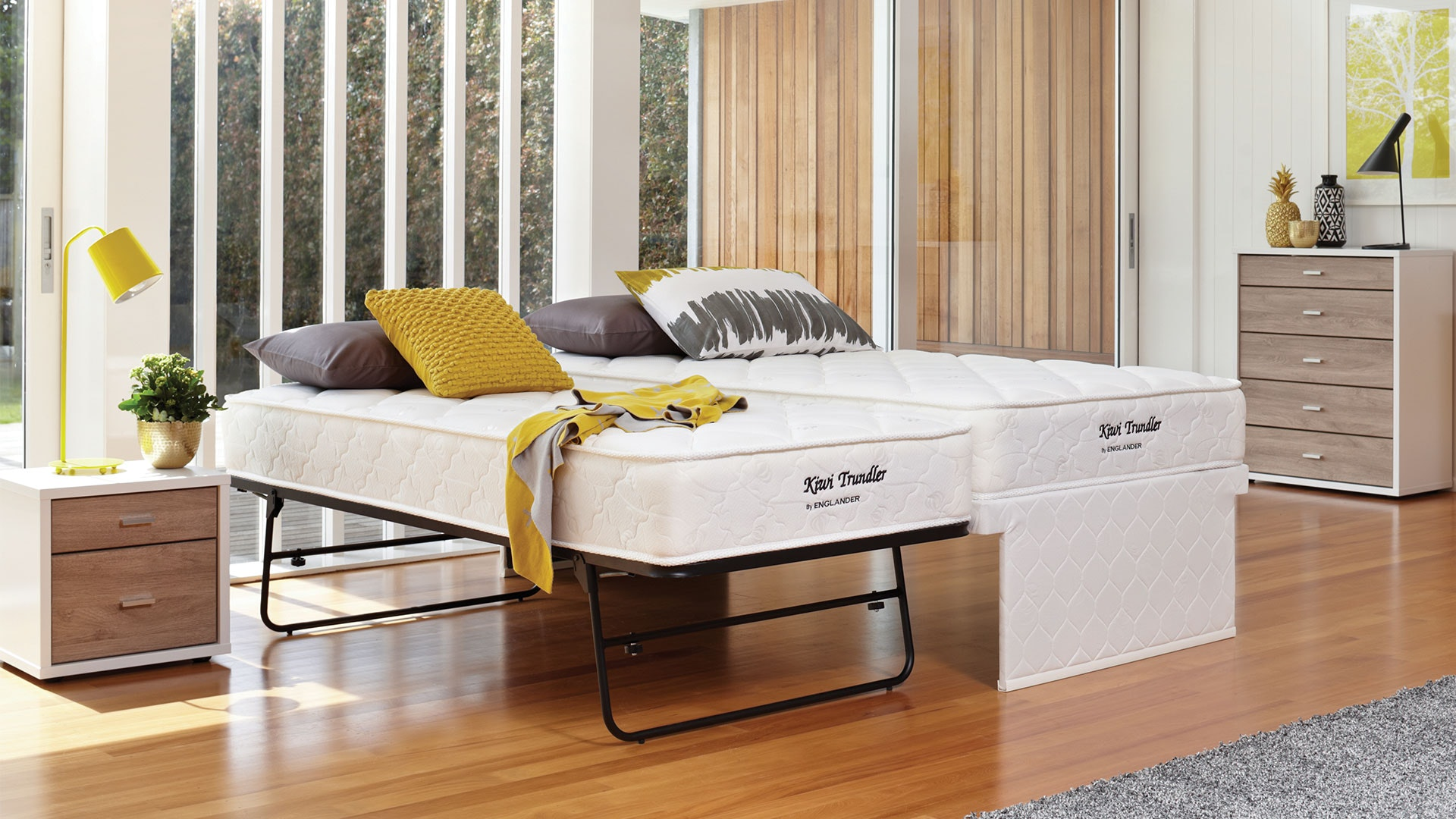 Kiwi King Single Trundle Bed By Englander Harvey Norman New Zealand