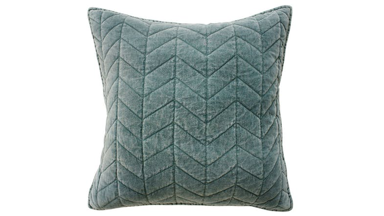 Lindis Feather Filled Velvet Cushion by Mulberi