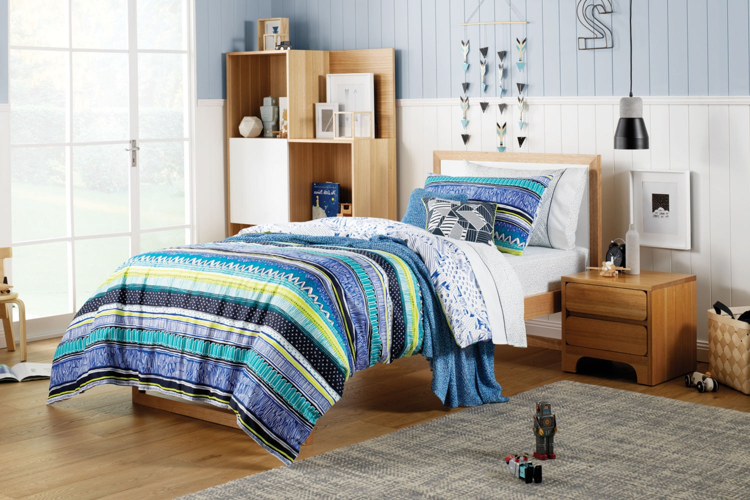 Starling Electric Blue Duvet Cover Set by Sheridan Kids