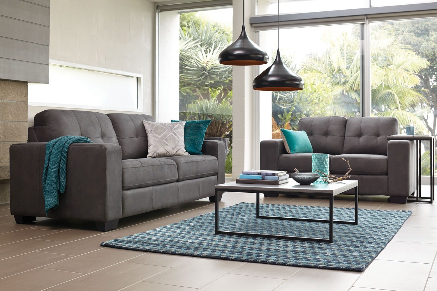 Caruba 2 Piece Fabric Lounge Suite