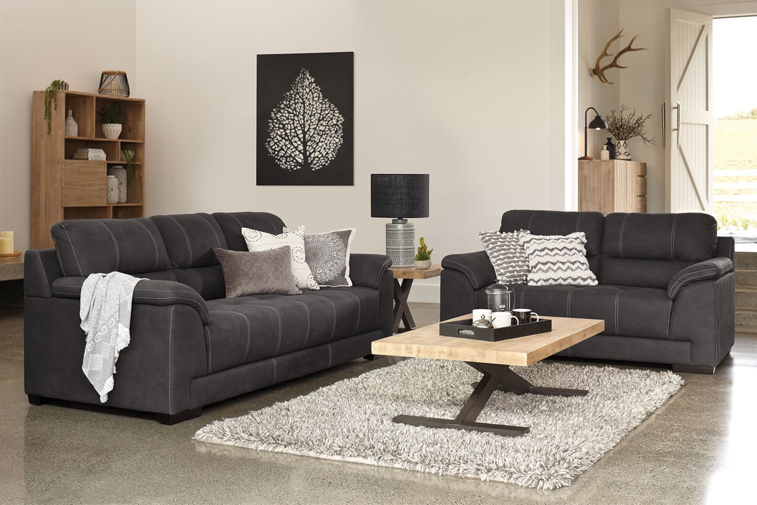 Casey 2 Piece Fabric Lounge Suite Harvey Norman New Zealand