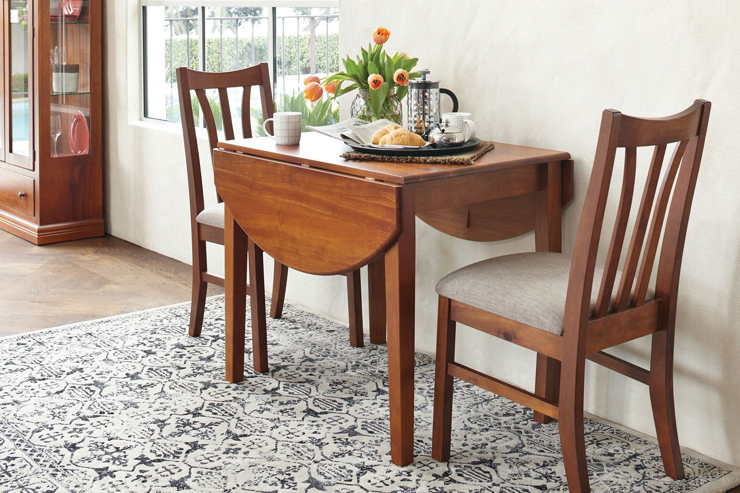 Waihi 3 piece drop leaf dining suite by coastwood for Furniture 3 piece suites