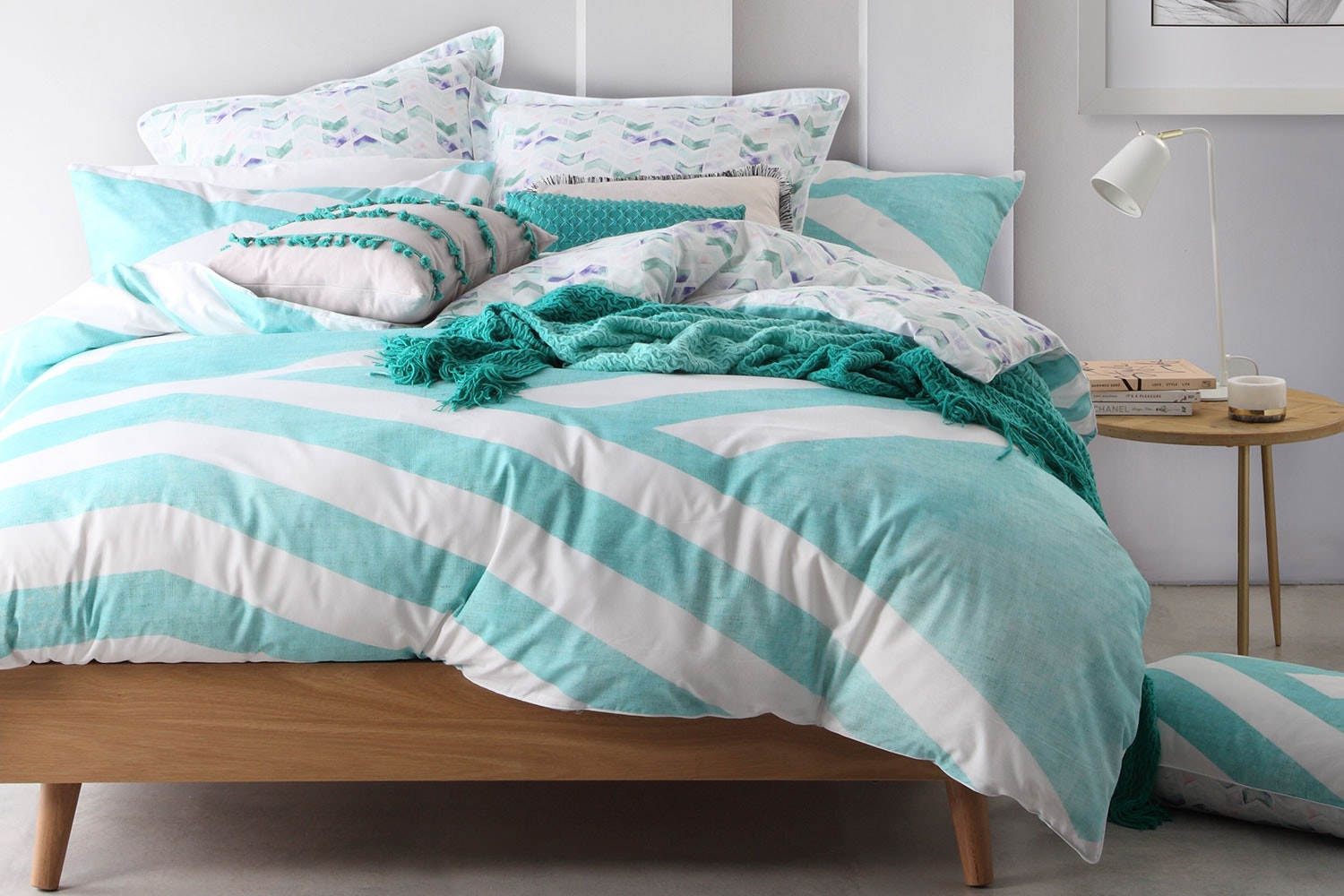Calippo Teal Duvet Cover Set by Logan and Mason