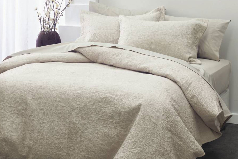 Chantel Bedspread Set by Savona - Moonbeam