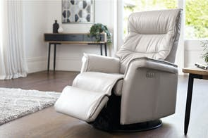 Chelsea Compact Leather Relaxer Chair by IMG