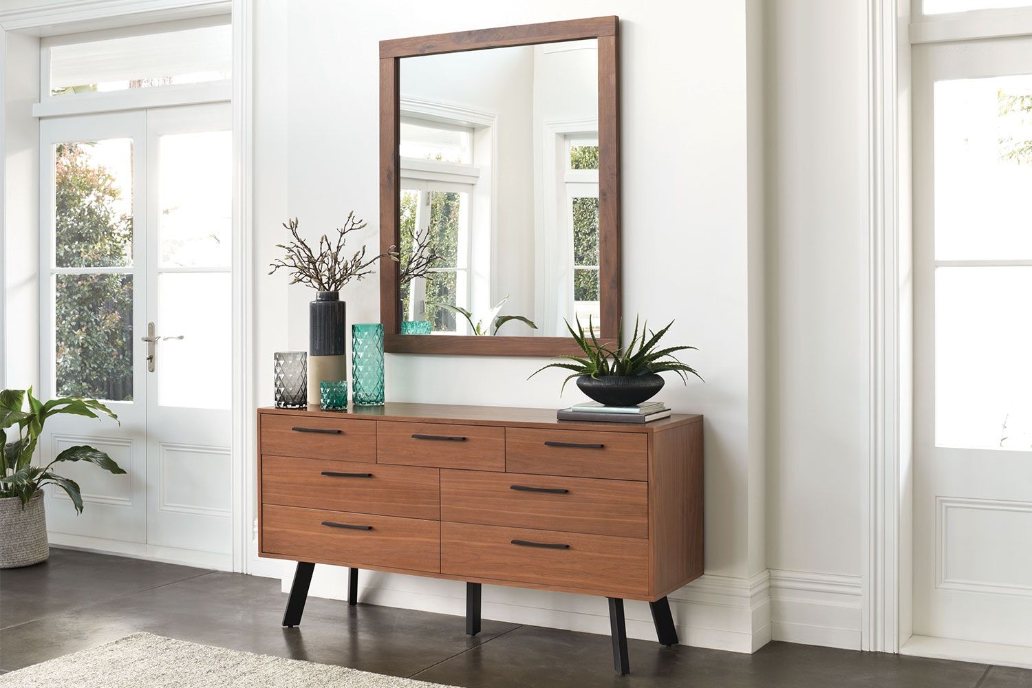 Ascola Dresser and Mirror by John Young Furniture