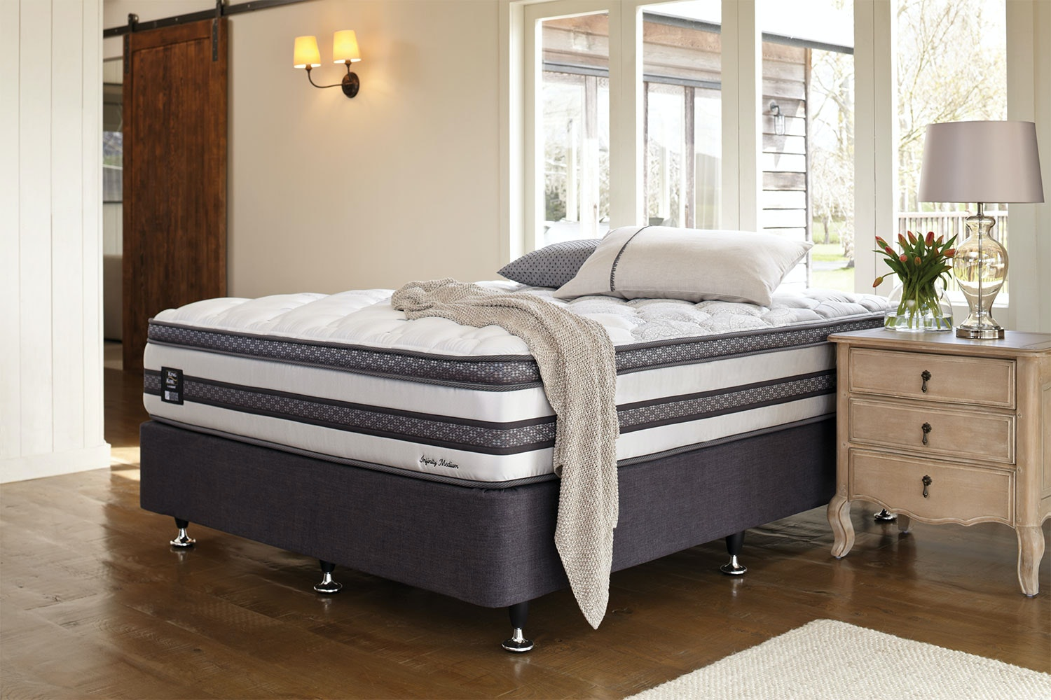 Infinity Medium Queen Bed by King Koil