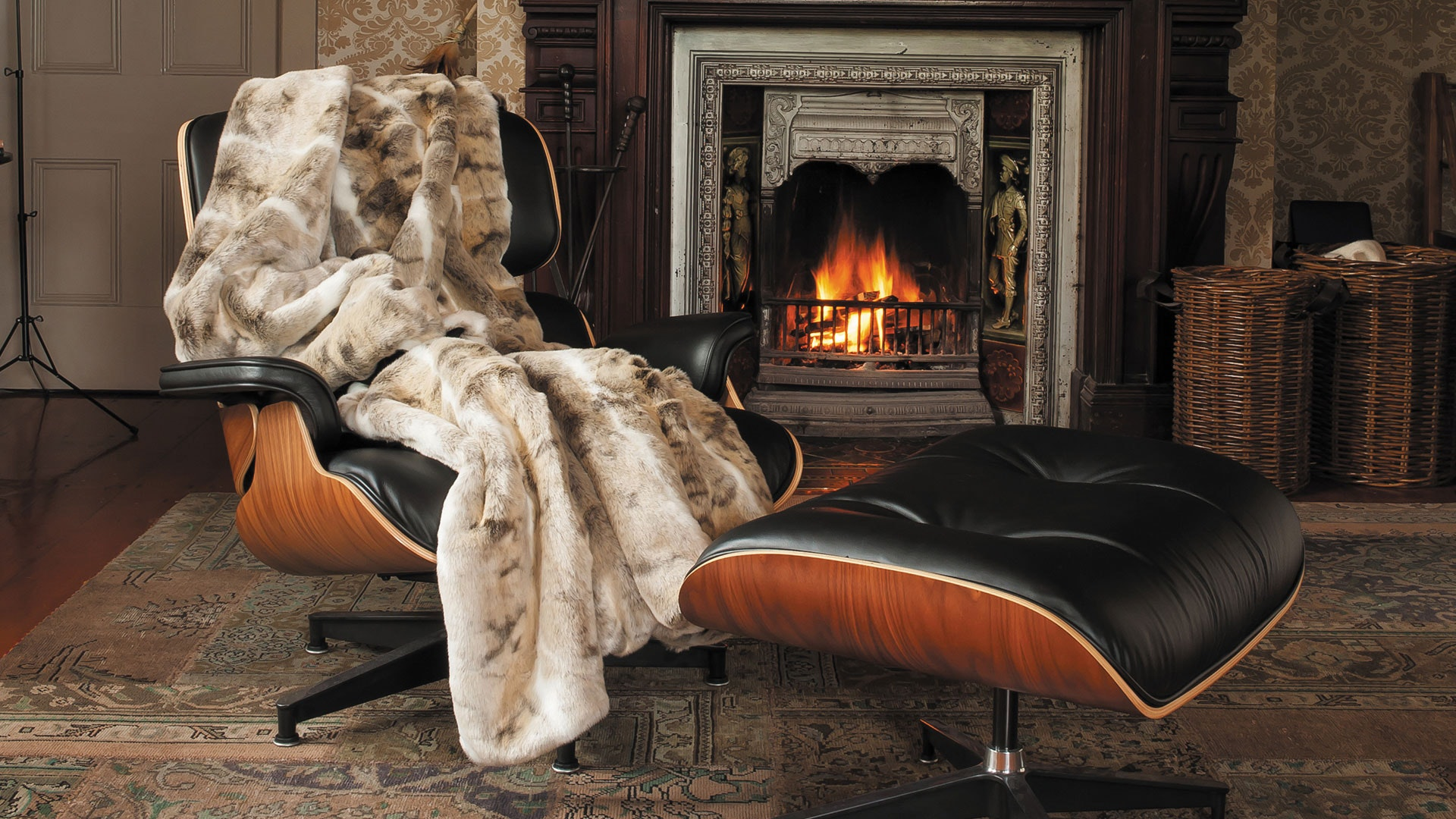 Faux Fur Throw Range by Heirloom - Mountain Rabbit