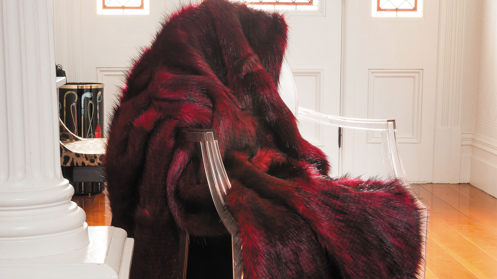 Faux Fur Throw Range by Heirloom - Red Pheasant