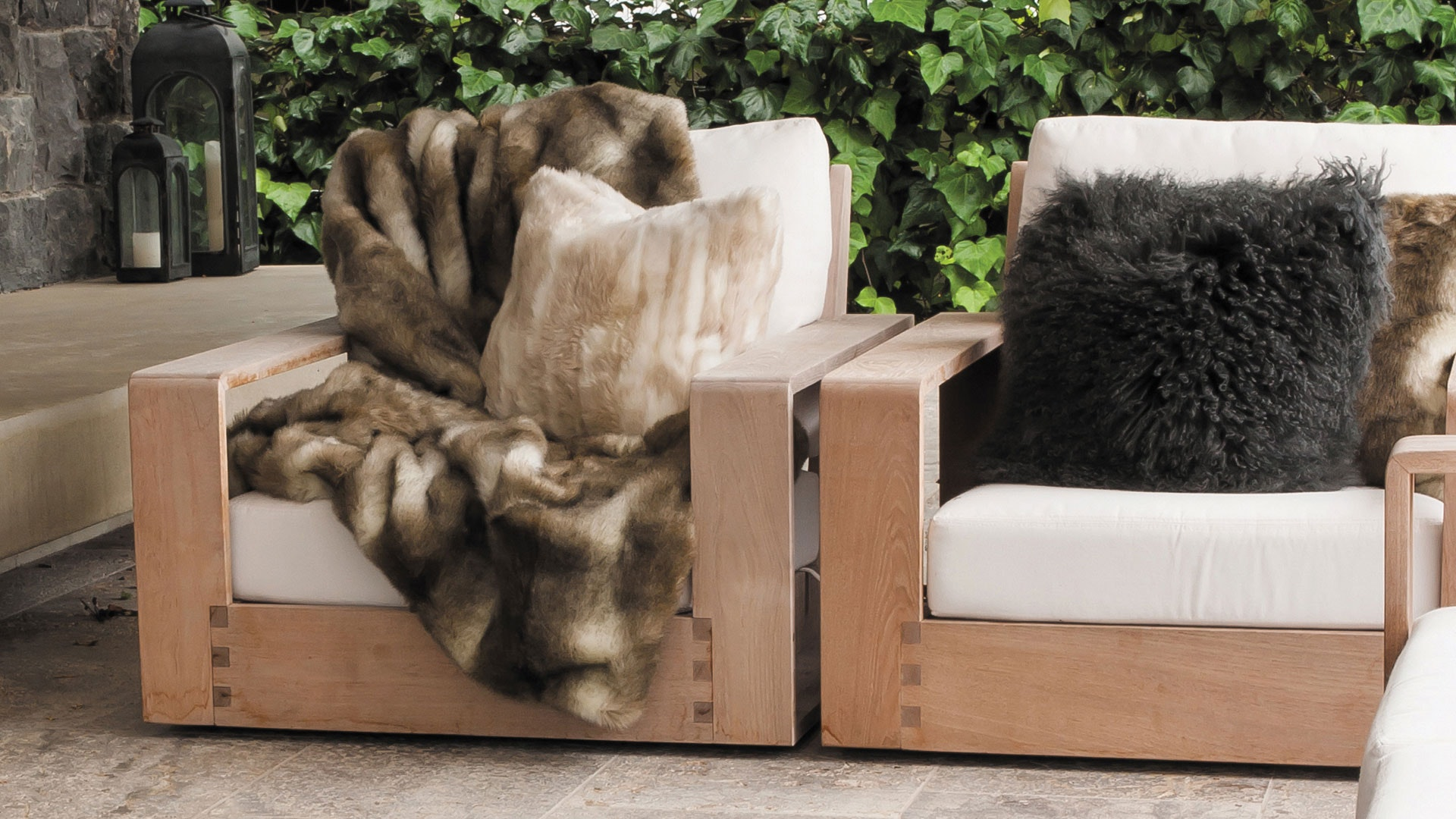 Faux Fur Throw Range by Heirloom - Grey Rabbit