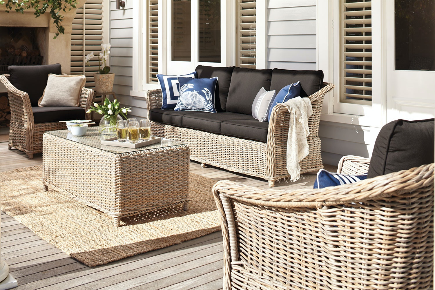 Oslo 4 Piece Outdoor Lounge Setting