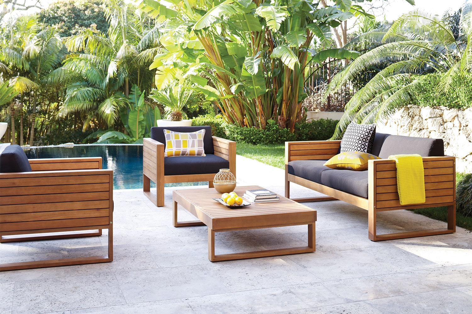 Vanuatu 4 Piece Outdoor Lounge Setting
