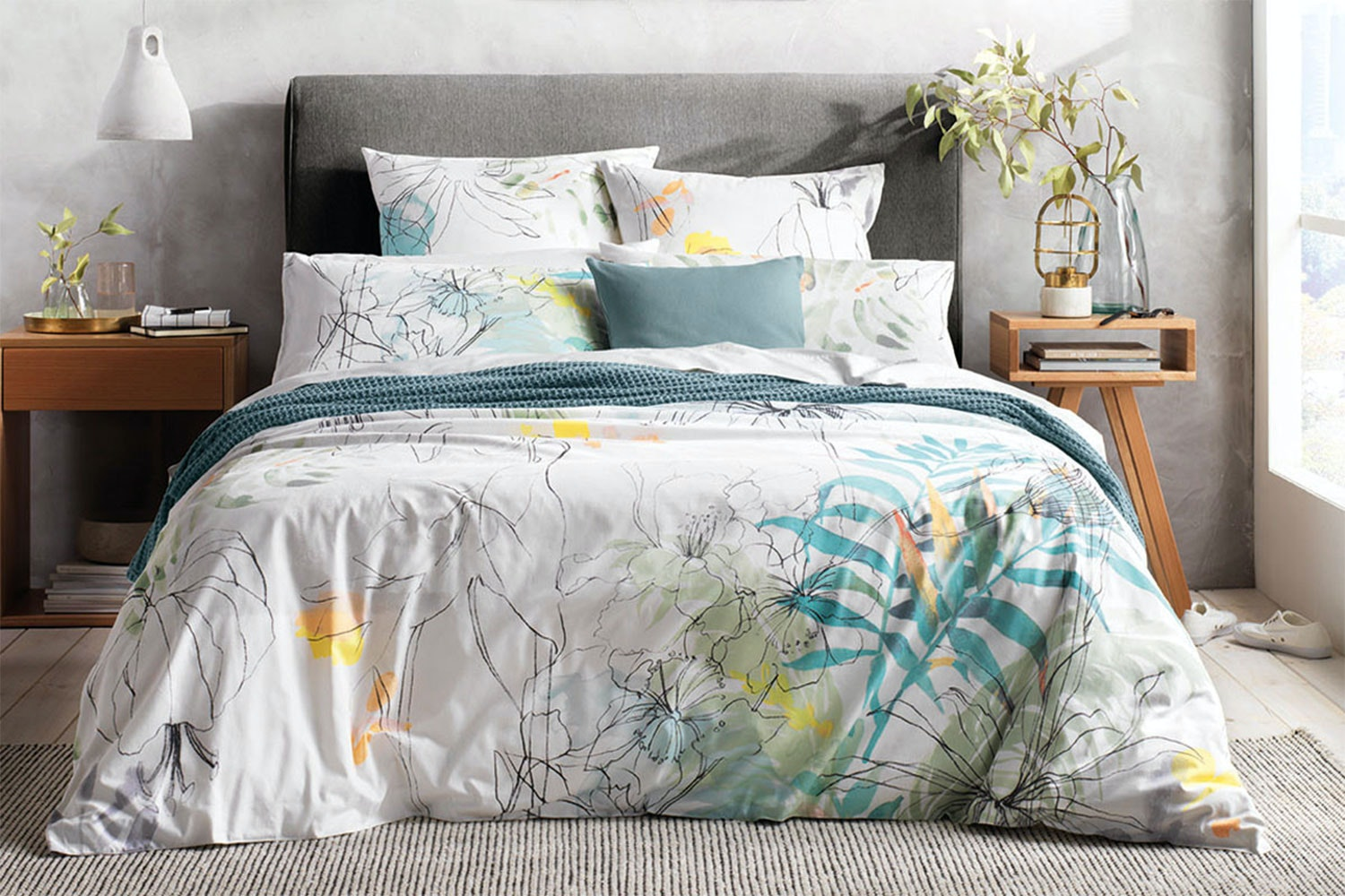 Allbury Blue Gum Duvet Cover Set by Sheridan