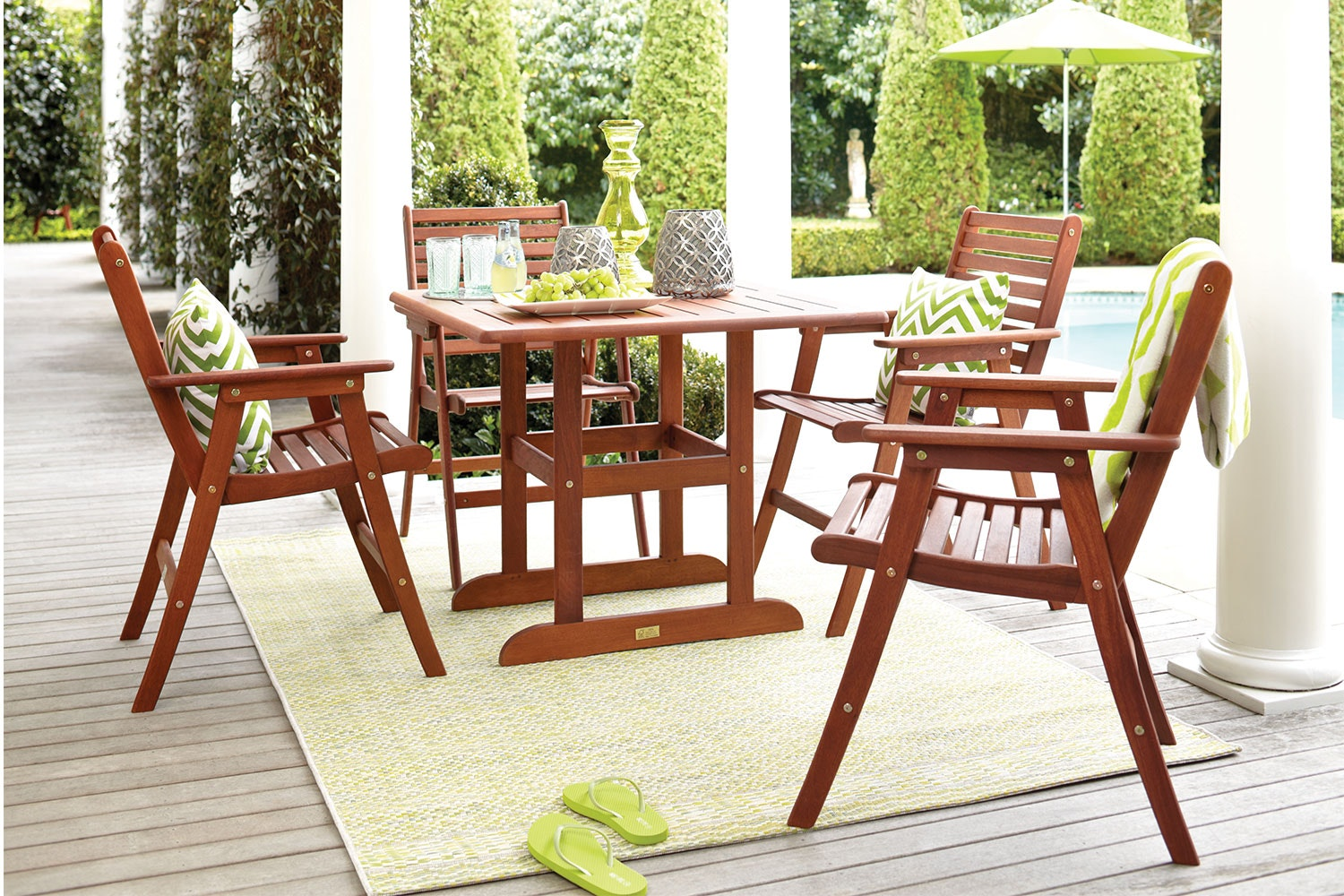 Bentley 5 Piece Square Outdoor Dining Setting