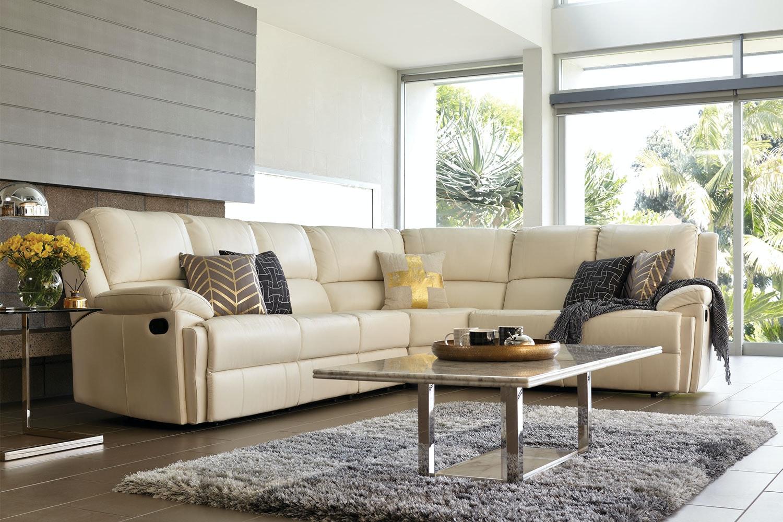 Janus 6 Seater Leather Corner Lounge Suite Harvey Norman New Zealand