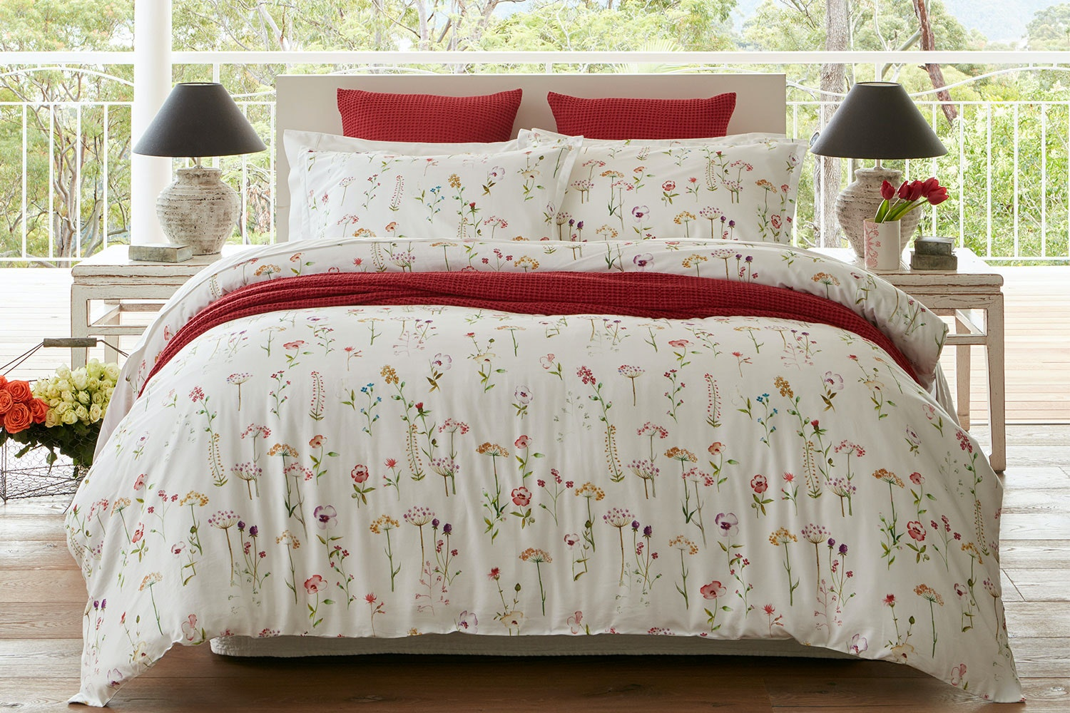 Country Garden Duvet Cover Set by Baksana