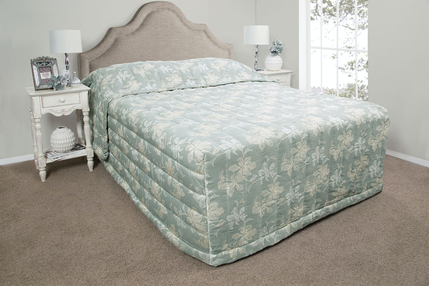 Eden Monique Sage Bedspread by NZ Merchants