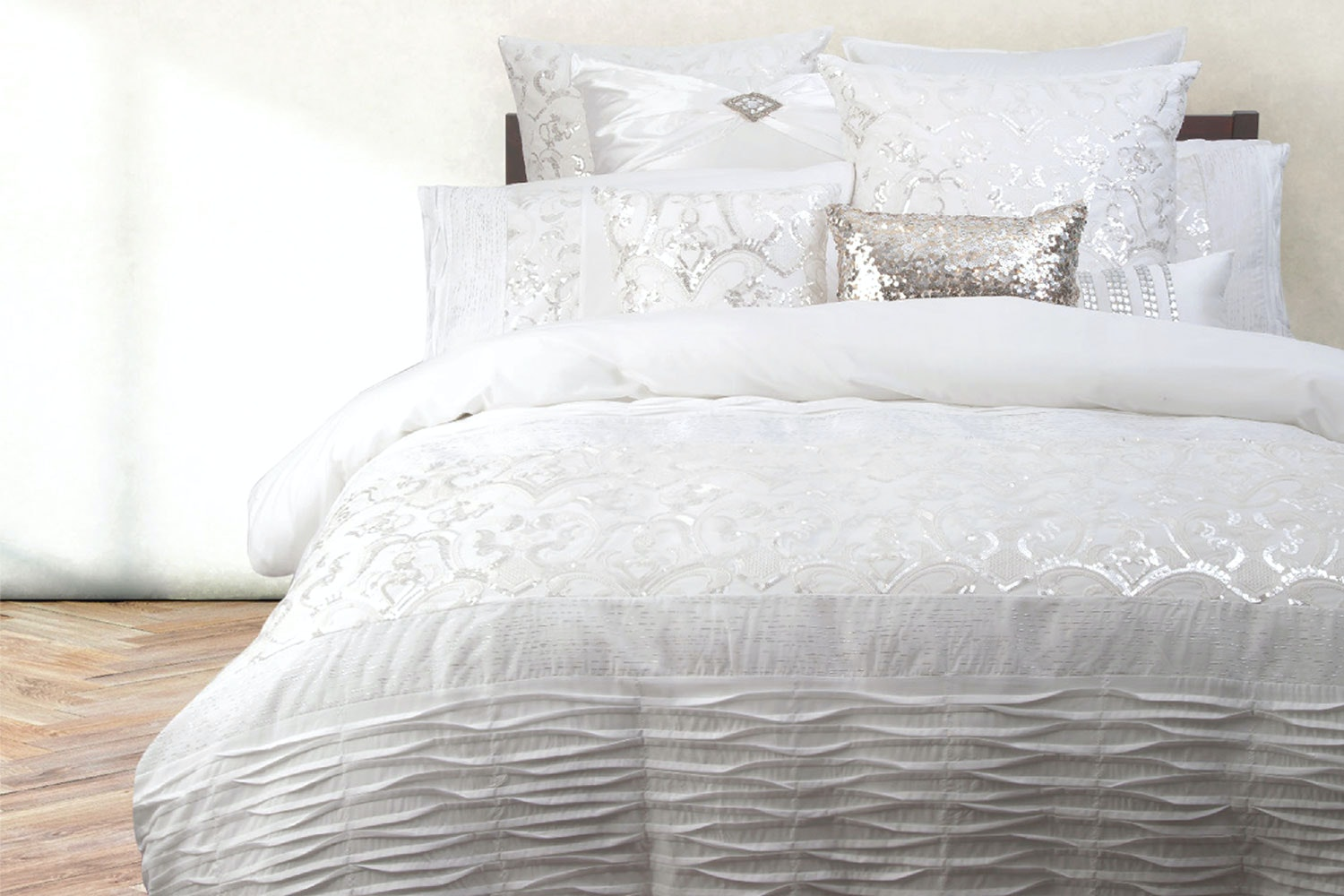 Felicity White Duvet Cover Set by Ultima Collection
