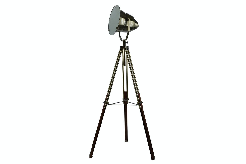 Adjustable Brass Stage Spotlight Floor Lamp by Nero Furniture
