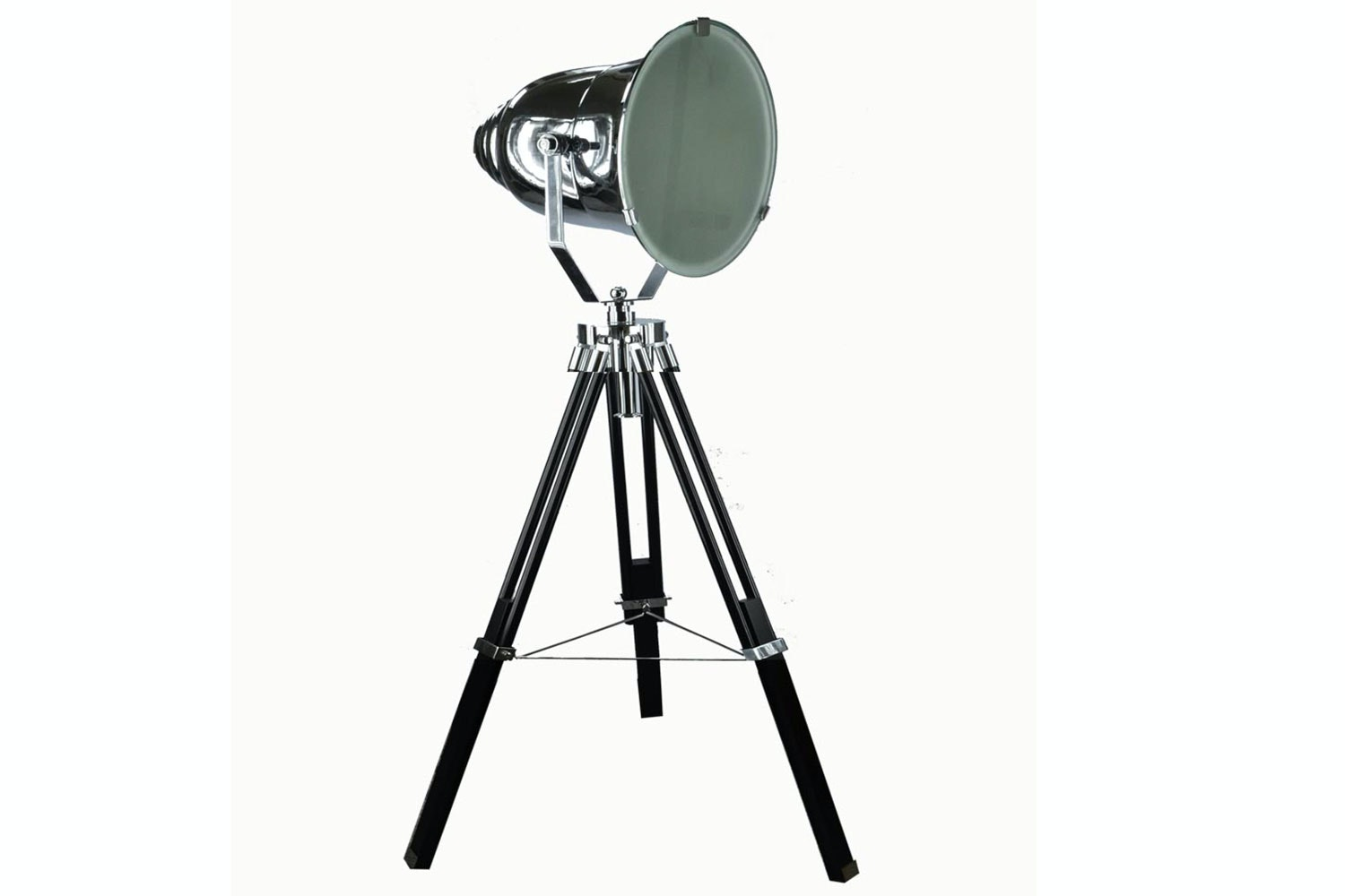 Adjustable Chrome Stage Spotlight Table Lamp by Nero Furniture