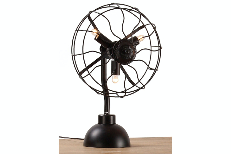 3 Light Vintage Fan Table Lamp by Nero Furniture