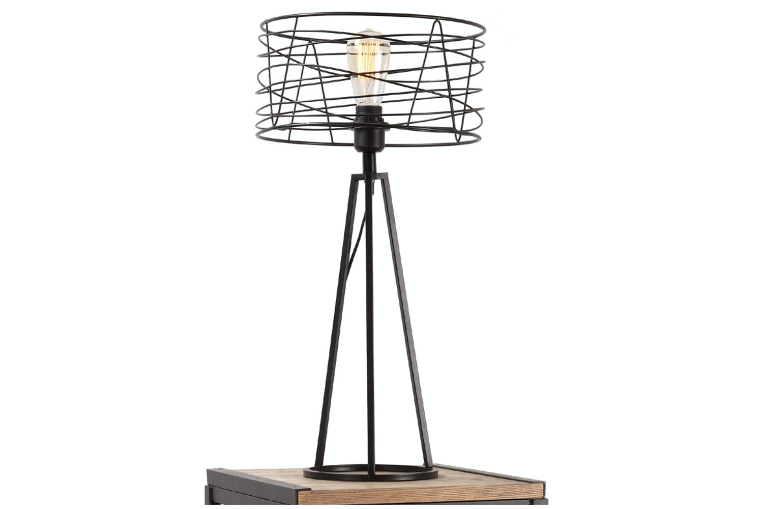 Industrial Exposed Metal Table Lamp by Nero Furniture
