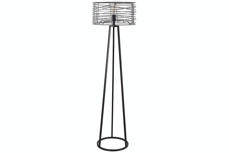 Industrial Exposed Metal Floor Lamp by Nero Furniture