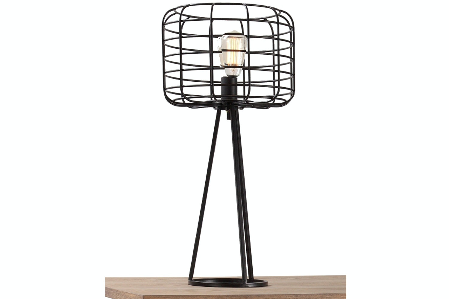 Industrial Cage Wire Table Lamp by Nero Furniture