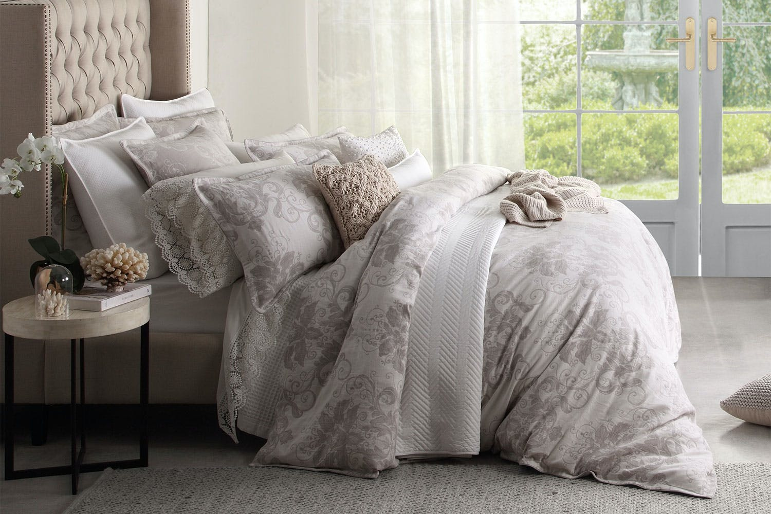 Ines Linen Duvet Cover Set By Private Collection