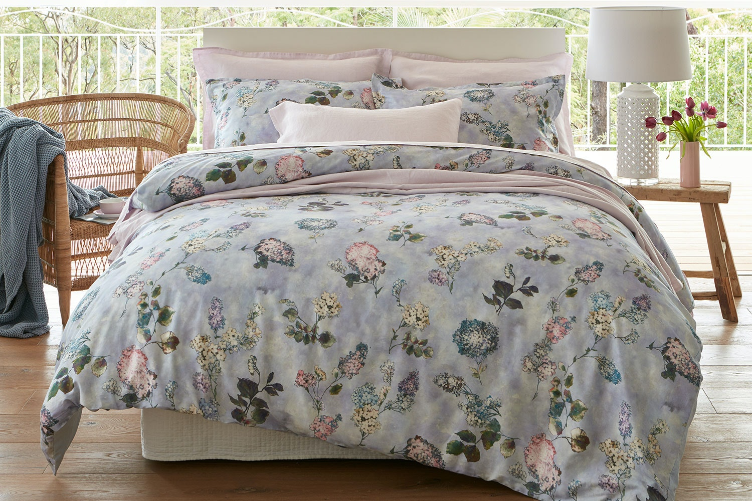 Lilac Duvet Cover Set by Baksana