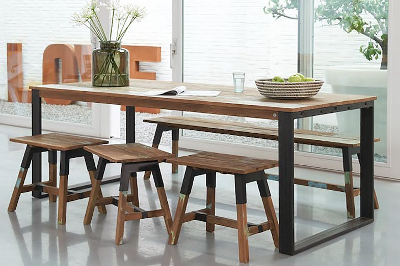 Look dining table by d bodhi collection harvey norman for Outdoor furniture auckland