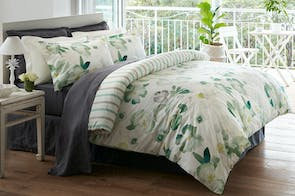 Lucky Clover Duvet Cover Set by Baksana