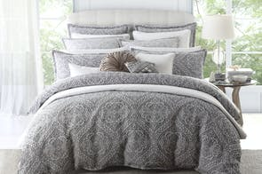 Manon Silver Duvet Cover Set by Private Collection