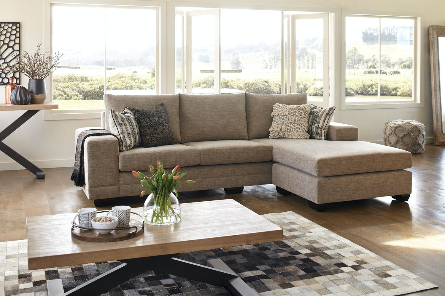 Martini 4 seater fabric lounge suite with chaise by for 4 seater lounge with chaise